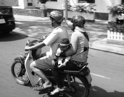 parents are wearing helmets